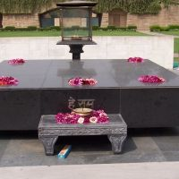 La tomba del Mahatma Gandhi