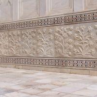 I lavori sul marmo del Taj Mahal